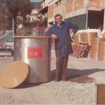 Bartolomeo Marchisio e la prima botte in acciaio prodotta